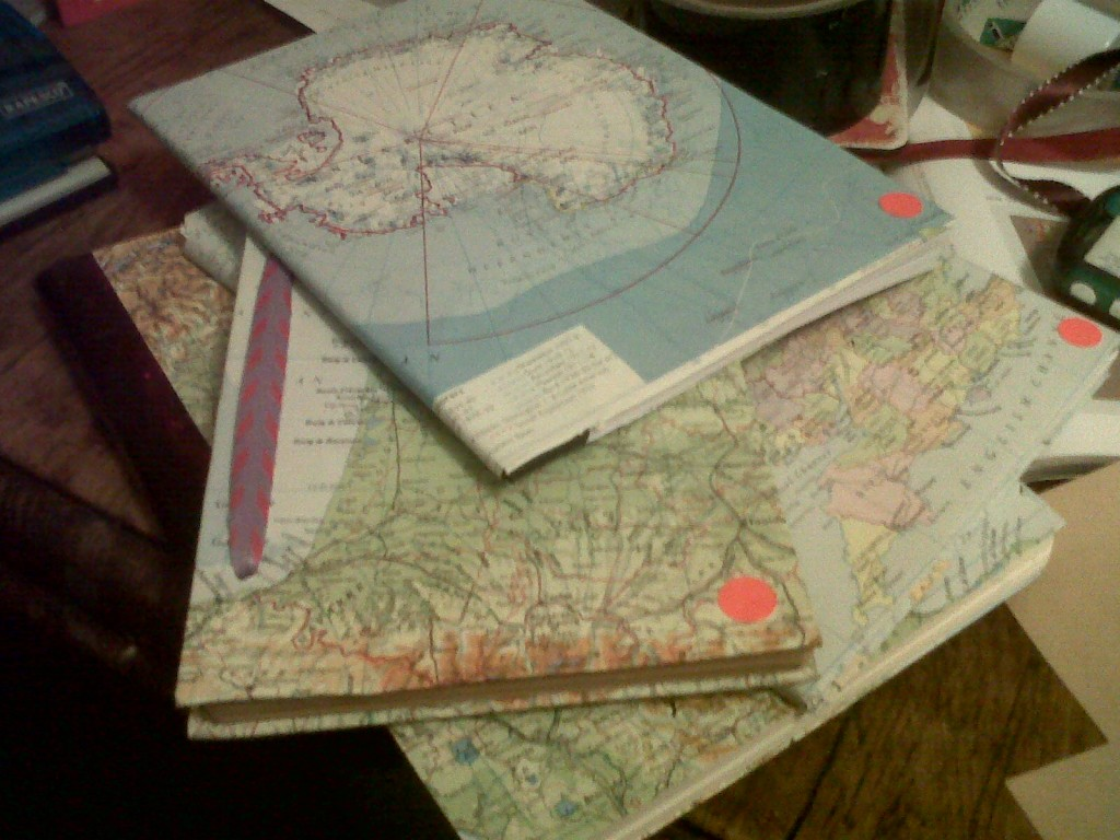 Homemade map journal